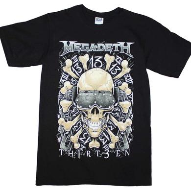 Megadeth T Shirt | Megadeth Red Bones Regular T-Shirt