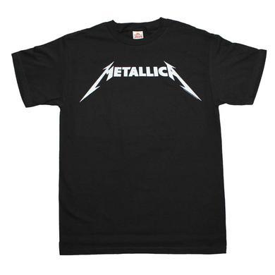 Metallica T Shirt | Metallica Black and White Logo T-Shirt