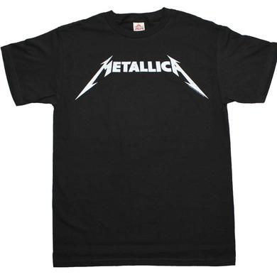 Metallica T Shirt | Metallica Black and White Logo T-Shirt