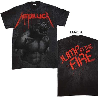 Metallica T Shirt | Metallica Jump in the Fire All Over T-Shirt