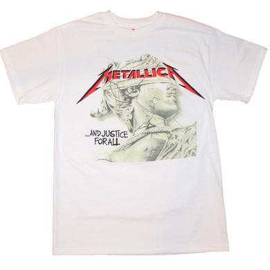 Metallica T Shirt | Metallica Justice Chrome Statue T-Shirt