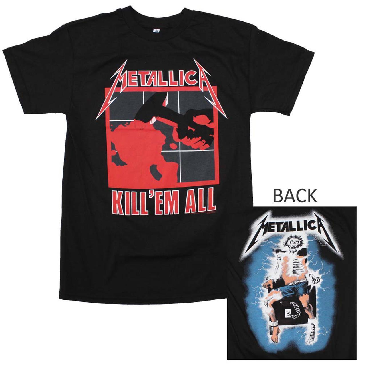metallica t shirt metallica kill em all t shirt. Black Bedroom Furniture Sets. Home Design Ideas