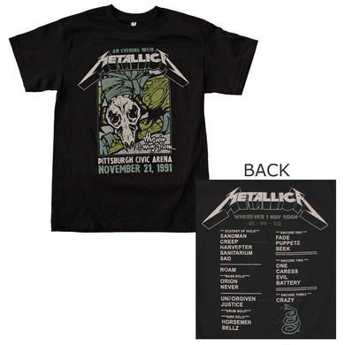 Metallica T Shirt | Metallica Pittsburgh Arena T-Shirt