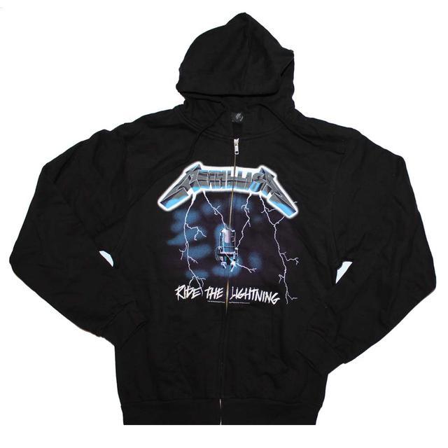 Metallica Ride the Lightning Zip Front Hoodie