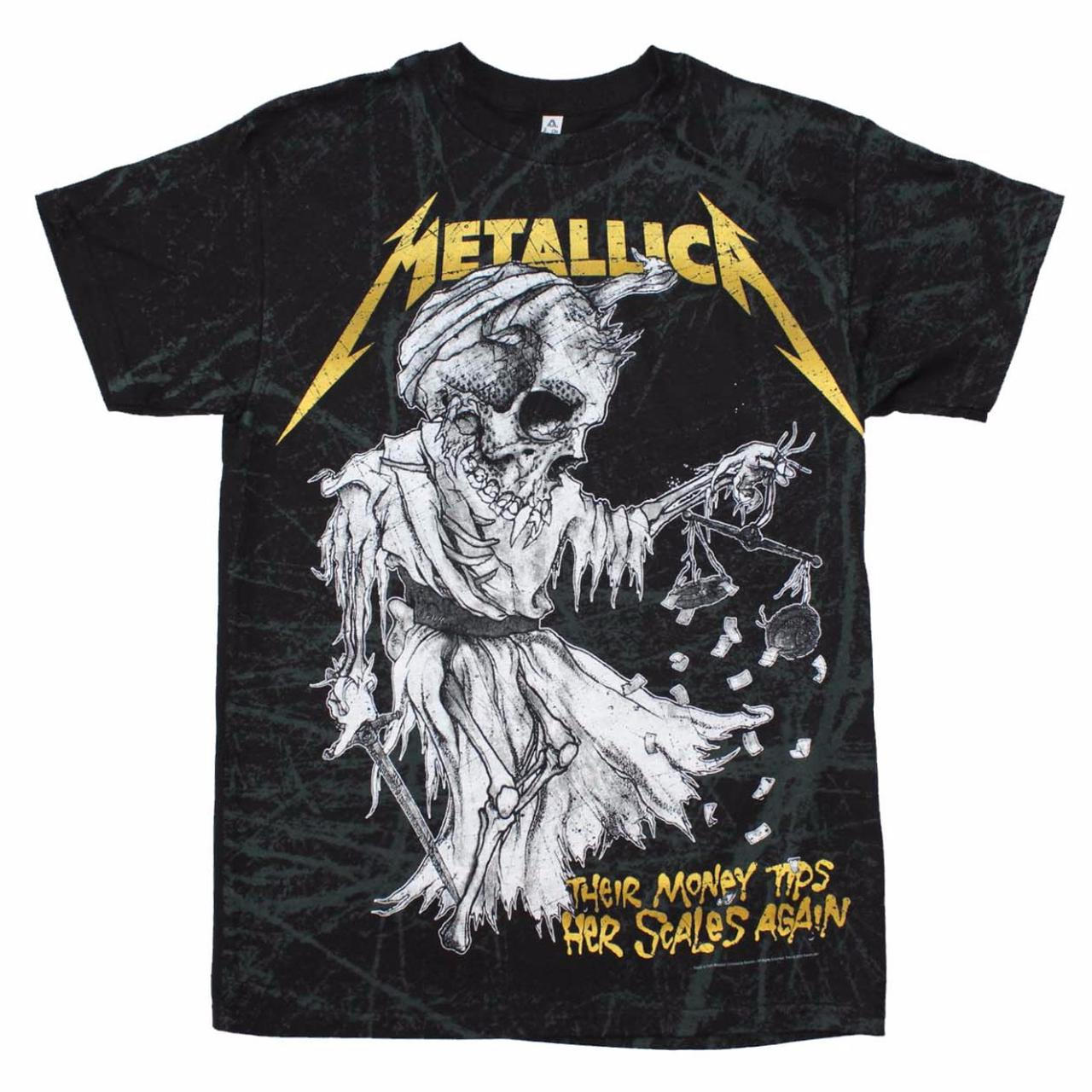 metallica t shirt metallica tip the scales t shirt. Black Bedroom Furniture Sets. Home Design Ideas