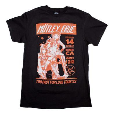 Motley Crue T Shirt | Motley Crue Vintage-Inspired Whiskey A Go Go T-Shirt