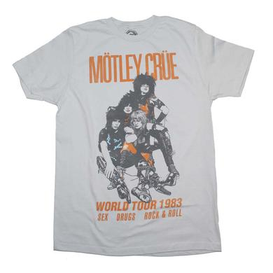 Motley Crue T Shirt | Motley Crue Vintage-Inspired World Tour 1983 T-Shirt