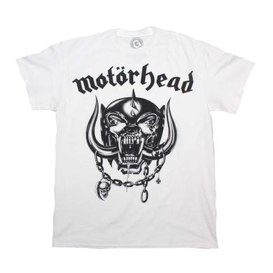 Motorhead T Shirt | Motorhead Flat War Pig White T-Shirt