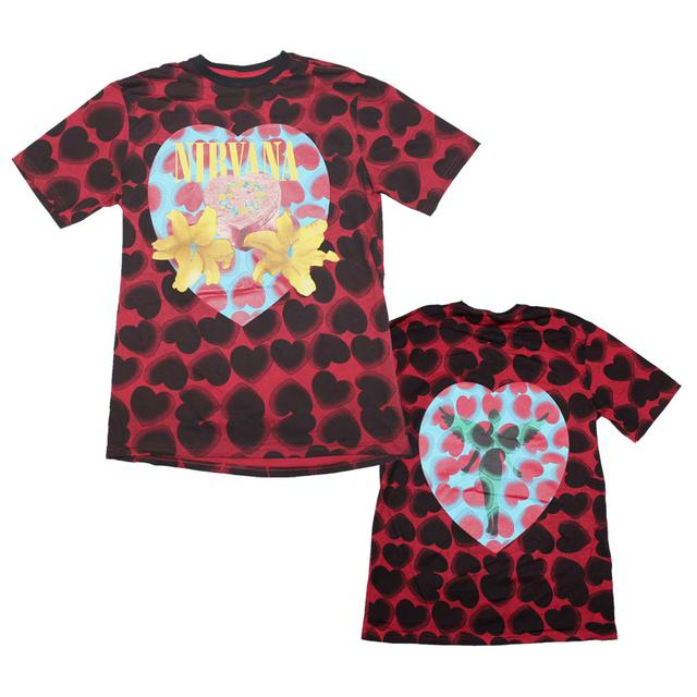 Nirvana T Shirt | Nirvana Heart Shaped Box Men's Dye T-Shirt