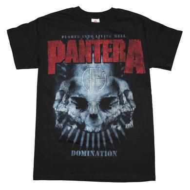 Pantera T Shirt | Pantera Domination Distressed Print T-Shirt