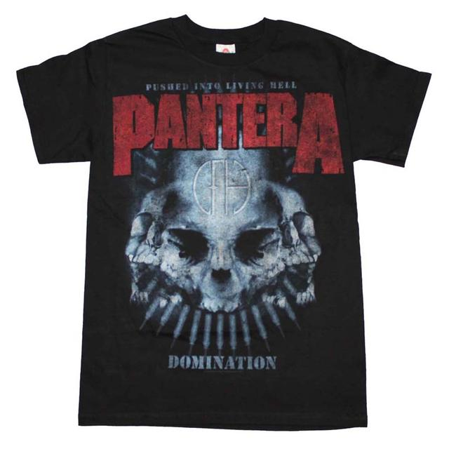 Pantera T Shirt | Pantera Domination Distressed Print T-Shirt