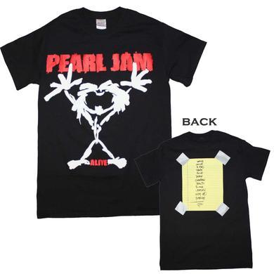 Pearl Jam T Shirt | Pearl Jam Alive Stickman T-Shirt