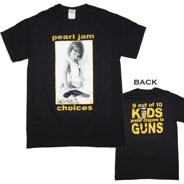 Pearl Jam T Shirt | Pearl Jam Choices T-Shirt