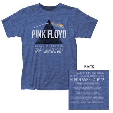 Pink Floyd T Shirt | Pink Floyd Dark Side Lunatics Exclusive Heather Blue T-Shirt