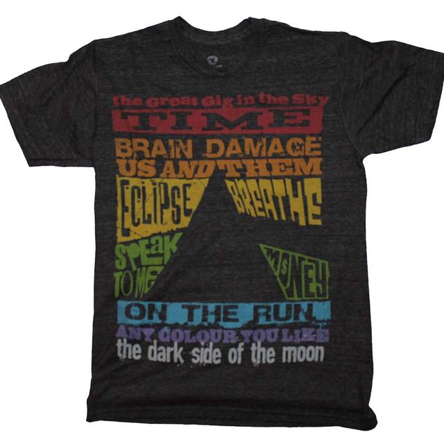 Pink Floyd T Shirt | Pink Floyd Dark Side Tracks Triblend T-Shirt