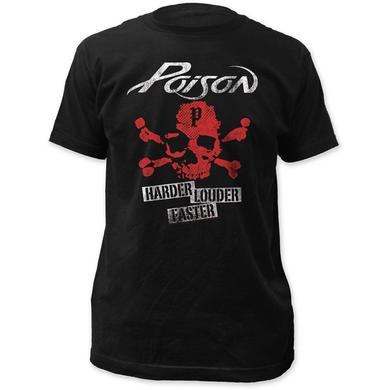 Poison T Shirt | Poison Harder Faster Louder T-Shirt