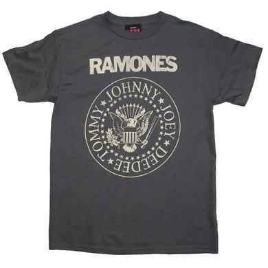 Ramones T Shirt | Ramones Distressed Crest T-Shirt