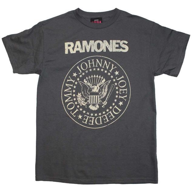 Ramones T Shirt | Ramones Distressed Crest T-Shirt