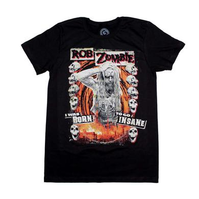Rob Zombie T Shirt | Rob Zombie Born to Go Insane T-Shirt