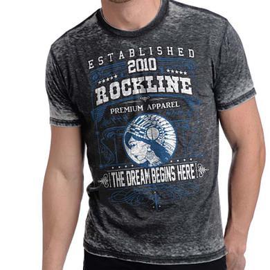 Designer Streetwear T Shirt | Rockline Premium Men's Dream Burnout T-Shirt