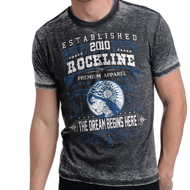 Designer Streetwear T Shirt | Rockline Premium Men's Dream Burnout T-Shirt