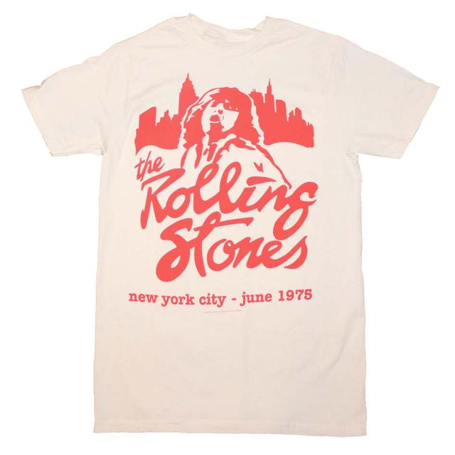 Rolling Stones T Shirt | Rolling Stones Mick June 1975 T-Shirt