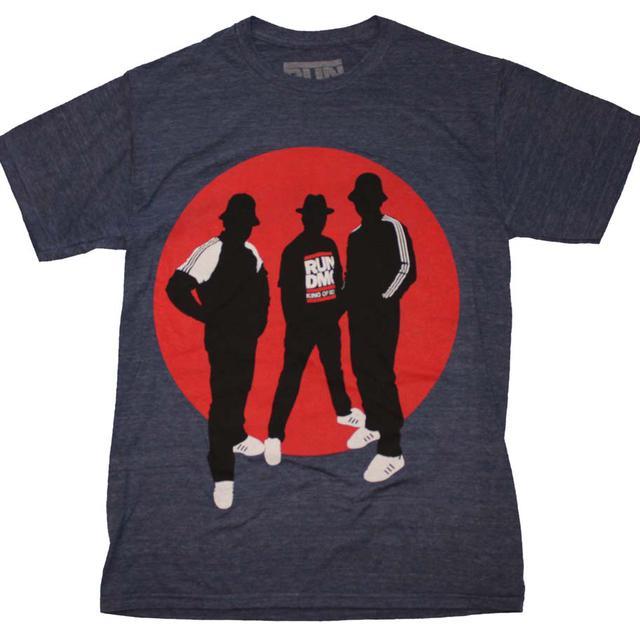 RUN DMC T Shirt | Run DMC Silhouette Circle Tri-Blend T-Shirt