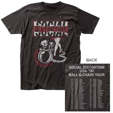 Social Distortion T Shirt | Social Distortion Ball & Chain T-Shirt