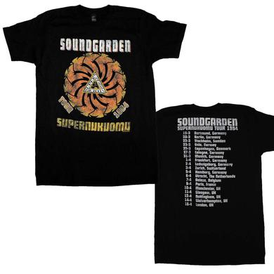 Soundgarden T Shirt | Soundgarden Superunknown Tour 94 Soft T-Shirt
