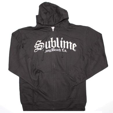 Sublime Black Logo Zip Sweatshirt