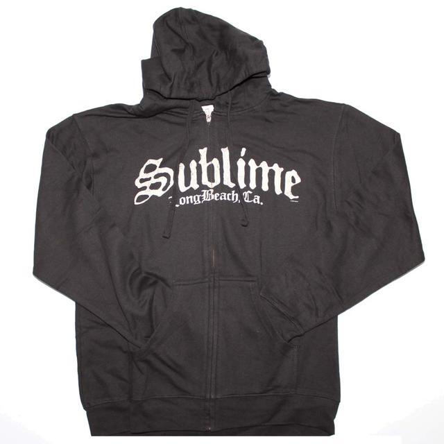 Sublime Black Logo Zip Sweatshirt