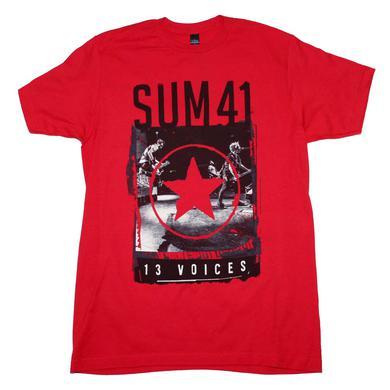 Sum 41 T Shirt   Sum 41 Red Star 13 Voices T-Shirt
