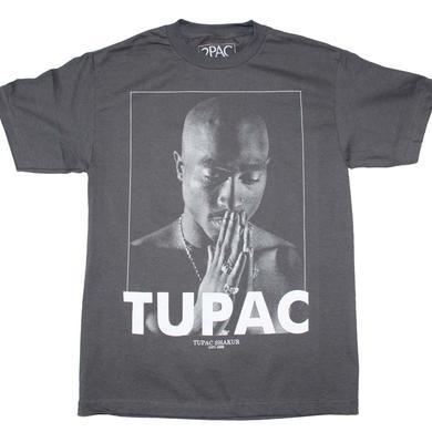 Tupac T Shirt | Tupac Praying Charcoal T-Shirt