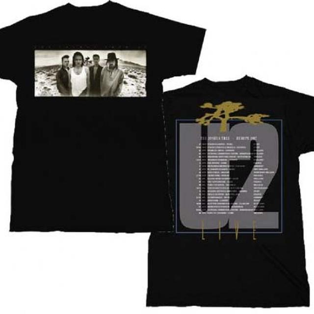 U2 T Shirt | U2 Joshua Tree European Tour T-Shirt