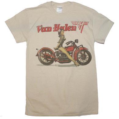 Van Halen T Shirt | Van Halen Biker Pinup T-Shirt
