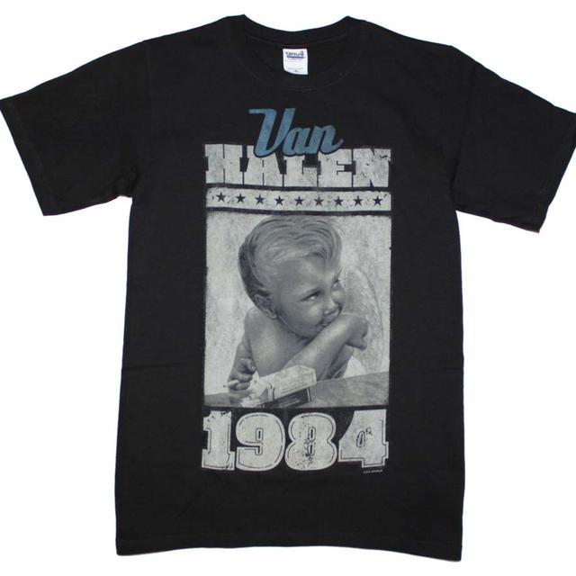 Van Halen T Shirt   Van Halen 1984 Baby Jumbo Print T-Shirt
