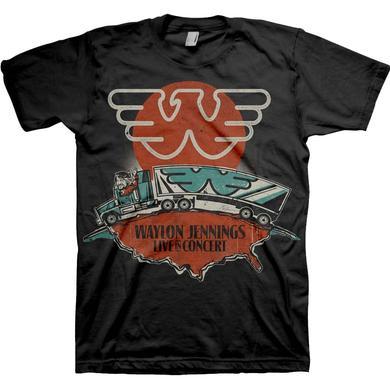 Waylon Jennings T Shirt   Waylon Jennings Live T-Shirt