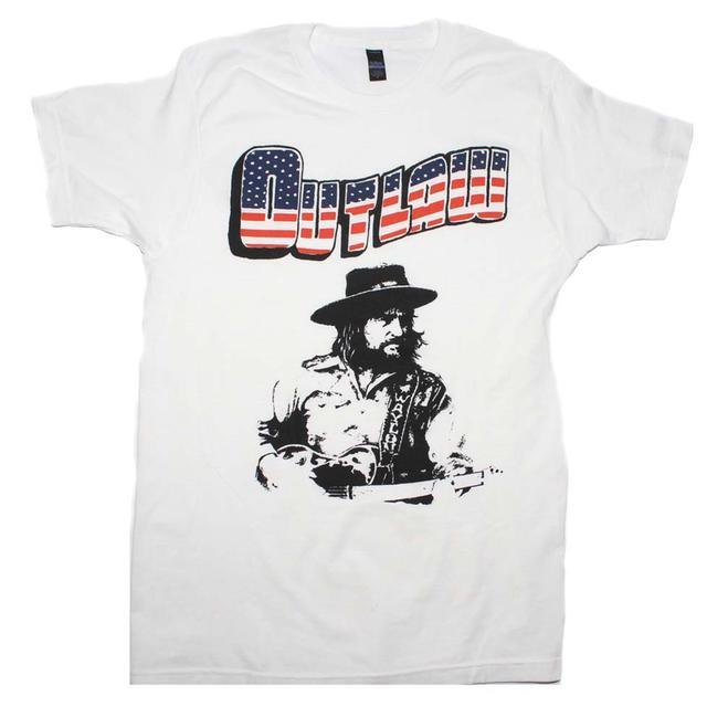 Waylon Jennings T Shirt   Waylon Jennings Outlaw T-Shirt