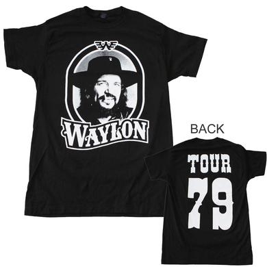 Waylon Jennings T Shirt | Waylon Jennings Tour 79 Black T-Shirt