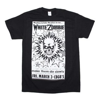 White Zombie T Shirt | White Zombie CBGB Poster T-Shirt
