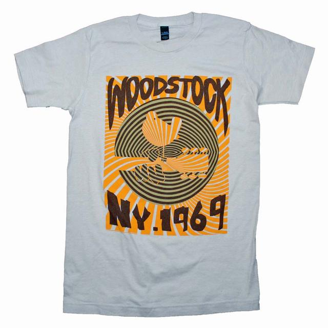 Woodstock T Shirt   Woodstock Men's 1969 Striped Slim Fit T-Shirt