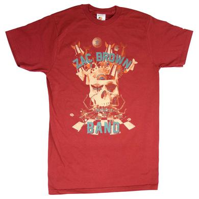Zac Brown Band T Shirt | Zac Brown Band Skull Collage Soft T-Shirt