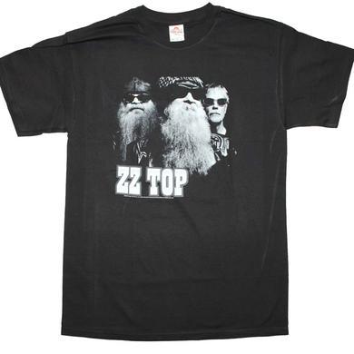 ZZ Top T Shirt | ZZ Top Black Photo T-Shirt