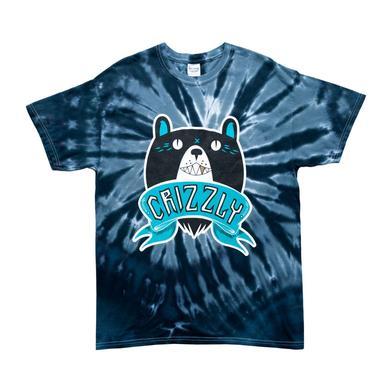 Crizzly Dark Tie Dye Logo T-Shirt