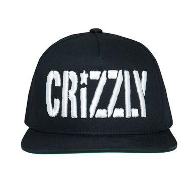 Crizzly Black Logo Snapback
