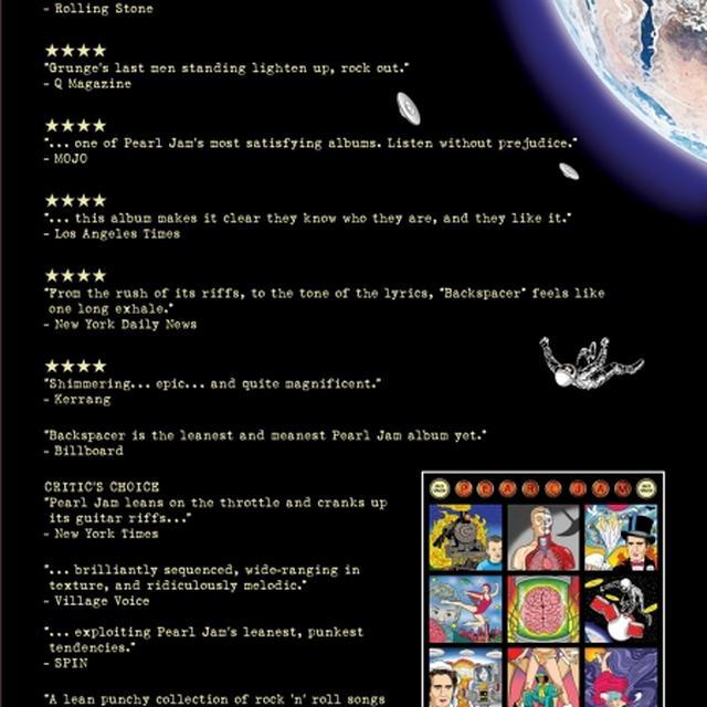 Pearl Jam Backspacer Poster