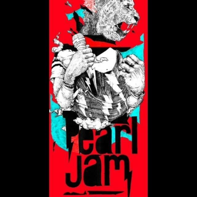 2014 PEARL JAM ADELAIDE, AU 31/1 TOUR POSTER