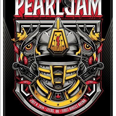 2014 PEARL JAM 7/8 LEEDS POSTER