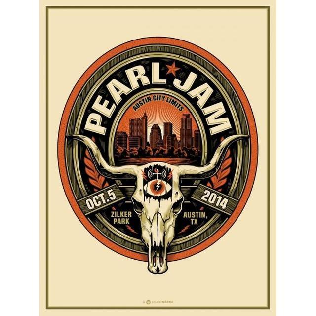 Pearl Jam Poster | Austin City Limits 2014