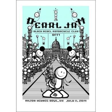 2014 PEARL JAM 7/11 MILTON KEYNES LONDON POLICE POSTER